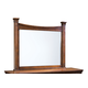 Standard Furniture Artisan Loft Landscape Mirror in Warm Oak Finish 92100-92108