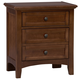 All-American Bonanza 2-Drawer Nightstand in Cherry