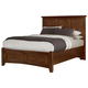 All-American Bronco Queen Mansion Storage Bed in Cherry