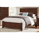 All-American Bonanza Queen Sleigh Bed in Cherry