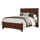 All-American Bronco Queen Sleigh Storage Bed in Cherry