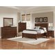 All-American Bonanza Sleigh Storage Bedroom Set in Cherry