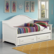 All-American Cottage Day Bed with Storage/Trundle Unit in Snow White