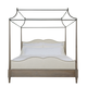 Bernhardt Auberge King Poster Bed with Metal Canopy in Weathered Oak 351-459A/529