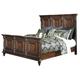 Key Town Cal King Mansion Bed in Dark Brown