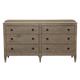 Bernhardt Auberge 6-Drawer Dresser in Weathered Oak 351-044A