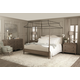 Bernhardt Auberge Poster Bedroom Set with Metal Canopy in Weathered Oak