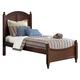 Liberty Furniture Abbott Ridge Youth Full Panel Bed in Cinnamon 277-FPB