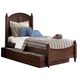 Liberty Furniture Abbott Ridge Youth Full Panel Bed with Trundle in Cinnamon 277-FTPB