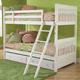 Hillsdale Lauren Youth Storage Bunk Bedroom Set in Crisp White