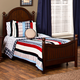 Hillsdale Westfield Youth Full Poster Bed in Rich Espresso