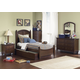 Liberty Furniture Abbott Ridge Youth 4 Piece Panel Bedroom Set  in Cinnamon