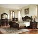 Standard Furniture Churchill Poster Bedroom Set in Dark Cherry
