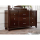 Hillsdale Roma Drawer Dresser in Rich Cherry 1225-717