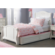 Liberty Furniture Arielle Twin Panel Bed with Trundle in Antique White 352-BR11-T