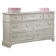 Liberty Furniture Arielle 7 Drawer Dresser in Antique White 352-BR30