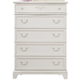Liberty Furniture Arielle 5 Drawer Chest in Antique White 352-BR40