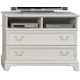 Liberty Furniture Arielle Media Chest in Antique White 352-BR49