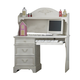 Liberty Furniture Arielle Desk Hutch and Base in Antique White 352-BR70