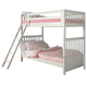 Liberty Furniture Arielle Twin Over Twin Bunk Bed in Antique White 352-BR07T