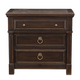 Bernhardt Pacific Canyon 3-Drawer Nightstand with Laminated Stone Top Inset in Coffee Bean 349-227