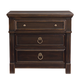 Bernhardt Pacific Canyon 3-Drawer Nightstand in Coffee Bean 349-229
