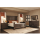 Bernhardt Pacific Canyon Panel Bedroom Set in Coffee Bean