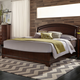 Liberty Furniture Avalon Queen Platform Bed in Dark Truffle 505-BR-QPL