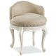 Universal Smartstuff Bellamy Swivel Vanity Chair in White 330A071