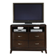Liberty Furniture Avalon Media Chest in Dark Truffle 505-BR45