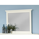 All-American Bonanza Landscape Mirror in White