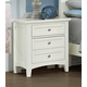 All-American Bonanza 2-Drawer Nightstand in White