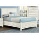 All-American Bonanza Queen Mansion Storage Bed in White