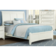 All-American Bonanza Queen Sleigh Bed in White