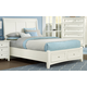 All-American Bronco Queen Sleigh Storage Bed in White