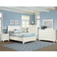 All-American Bonanza Mansion Storage Bedroom Set in White