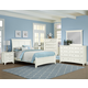 All-American Bronco Sleigh Bedroom Set in White