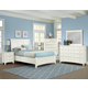 All-American Bonanza Sleigh Storage Bedroom Set in White