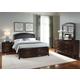 Liberty Furniture Avalon 4 Piece Leather Platform Storage Bedroom Set in Dark Truffle