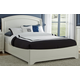 Liberty Furniture Avalon Queen Platform Bed in White Truffle 205-205-QPL