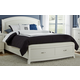 Liberty Furniture Avalon Queen Storage Platform Leather Headboard Bed in White Truffle 205-BR-LQPL