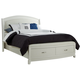 Liberty Furniture Avalon King Storage Platform Leather Headboard Bed in White Truffle 205-BR-LKPL