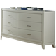 Liberty Furniture Avalon 6 Drawer Dresser in White Truffle 205-BR31