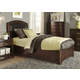 Liberty Furniture Avalon Youth Full Leather Platform Bed in Dark Truffle 505-YBR-FLB