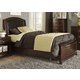 Liberty Furniture Avalon Youth Twin Leather Storage Bed in Dark Truffle 505-YBR-TLS