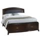 Liberty Furniture Avalon Youth Full Leather Storage Bed in Dark Truffle 505-YBR-FLS