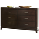 Liberty Furniture Avalon 5 Drawer Dresser in Dark Truffle 505-BR30