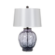 Rosabella Glass Table Lamp in Gray/Purple/Black (Set of 2) L431264