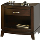 Liberty Furniture Avalon Nightstand in Dark Truffle 505-BR60