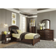 Liberty Furniture Avalon Youth 4 Piece Leather Platform Bedroom Set in Dark Truffle